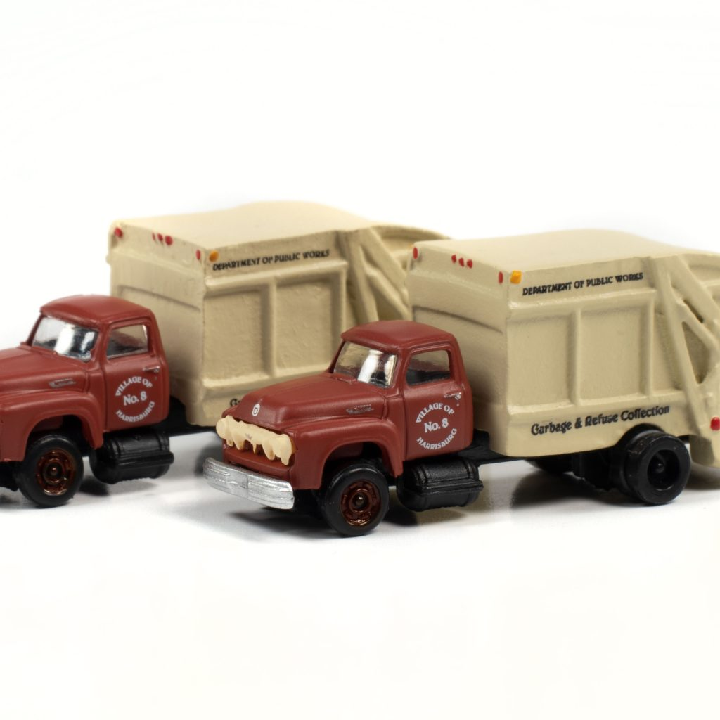 Classic Metal Works 1954 Ford Garbage Truck (Harrisburg Department of Public Works) (2-Pack) 1:160 N Scale