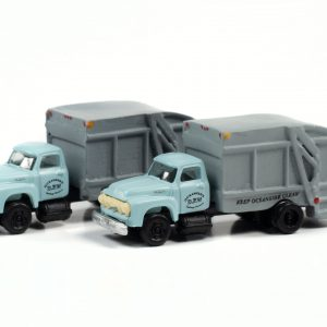 Classic Metal Works 1954 Ford Garbage Truck (Oceanside Department of Public Works) (2-Pack) 1:160 N Scale