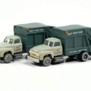 Classic Metal Works 1954 Ford Garbage Truck (Ironwood Sanitation) (2-Pack) 1:160 N Scale