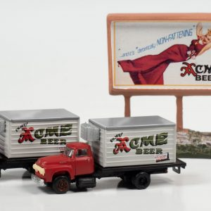 Classic Metal Works 1954 Ford Beer Truck w/Country Billboard (Acme Beer) 1:160 N Scale