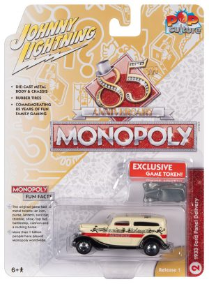 Johnny Lightning Pop Culture Monopoly 1933 Ford Panel Delivery & Token 1:64 Diecast