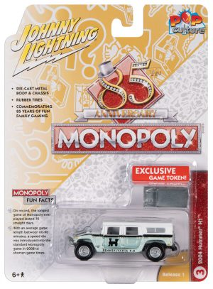 Johnny Lightning Pop Culture Monopoly 2004 Hummer H1 & Token 1:64 Diecast
