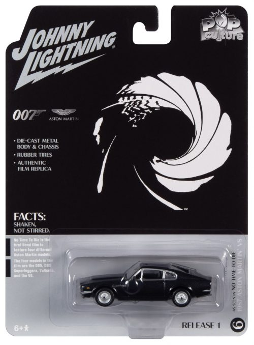 Johnny Lightning Pop Culture James Bond 1987 Aston Martin V8 Vantage (No Time to Die) 1:64 Diecast