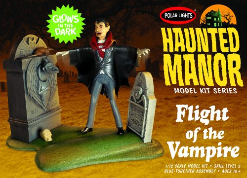 Polar Lights Haunted Manor: Flight of the Vampire 1:12 Scale Model Kit