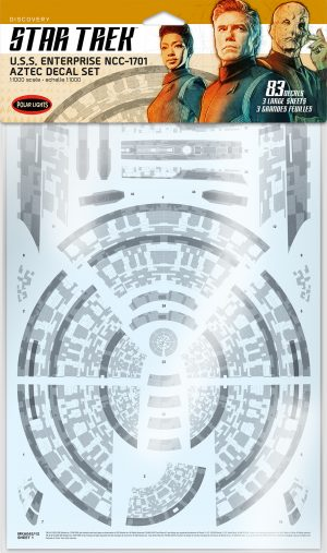 Star Trek Discovery U.S.S. Enterprise Aztec Decal Set 1:1000 Scale