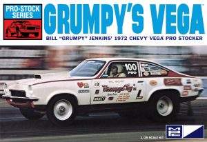 "MPC 1972 Chevy Vega Pro Stock / Bill ""Grumpy"" Jenkins 1:25 Scale Model Kit"