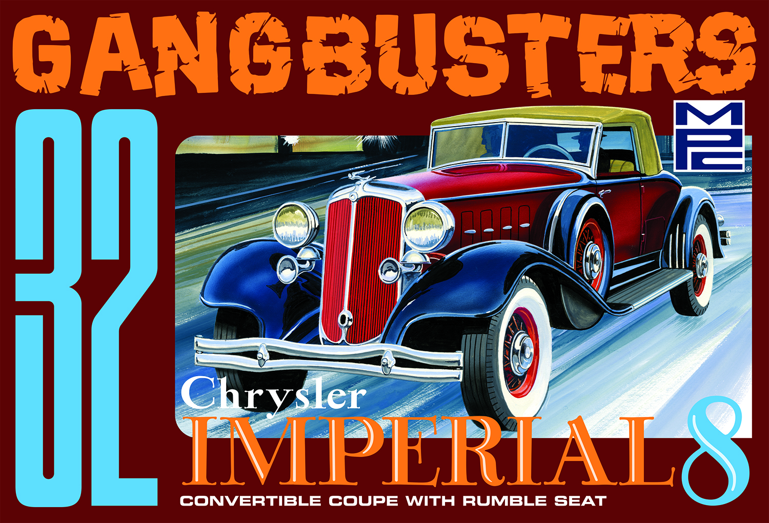 "MPC 1932 Chrysler Imperial ""Gangbusters"" 1:25 Scale Model Kit"