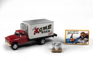 Classic Metal Works 1955 Chevy Beer Truck w/Kegs, Skid & Building Sign (Acme Beer) 1:87 HO Scale