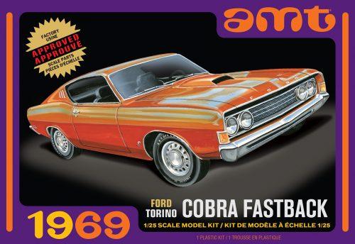 AMT 1969 Ford Torino Cobra Fastback 1:25 Scale Model Kit