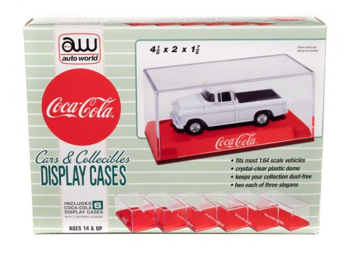 Auto World Acrylic Display Case Coca-Cola (6 Pack) for 1:64 scale