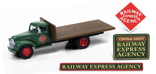 1941-1946 Chevy Flatbed Truck w/Shipping Crates & Building Signs (Railway Express Agency)