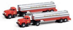 1954 Ford w/Tanker Trailer (Millstone Township Fire Dept) (N Scale)