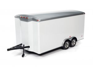 American Muscle Enclosed Trailer (White) 1:18 Scale Diecast