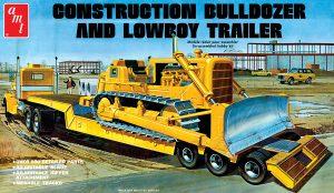 AMT Lowboy Trailer & Bulldozer Combo 1:25 Scale Model Kit