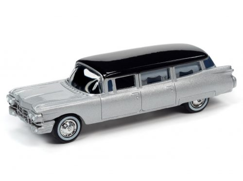 Johnny Lightning 1959 Cadillac Hearse (Silver/Black) 1:64 Scale Diecast 1:64 Scale Diecast