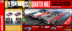 Auto World 13' Legends of the Quarter Mile Drag Slot Race Set HO Scale