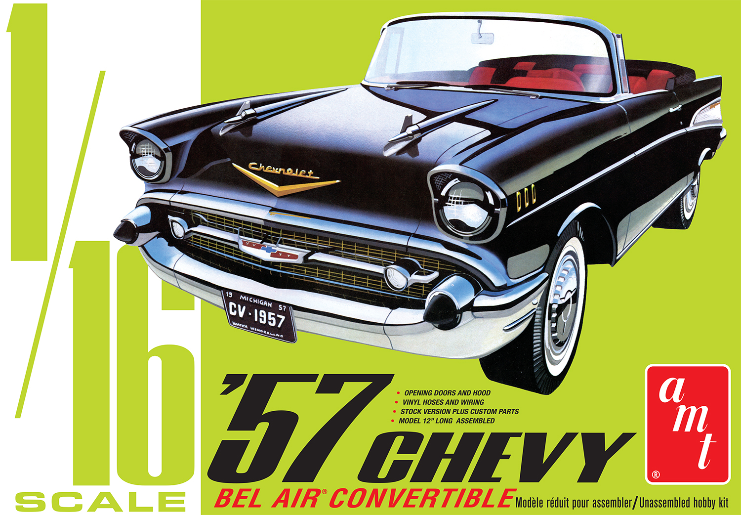 AMT 1957 Chevy Bel Air Convertible 1:25 Scale Model Kit