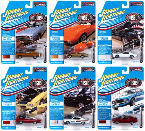 JOHNNY LIGHTNING MUSCLE CARS USA 2020 RELEASE 3 SET A - 1:64 DIECAST