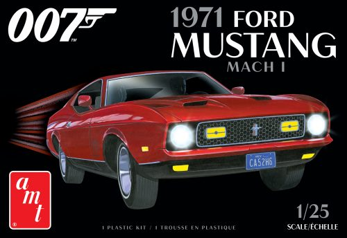 AMT James Bond 1971 Ford Mustang Mach I 1:25 Scale Model Kit