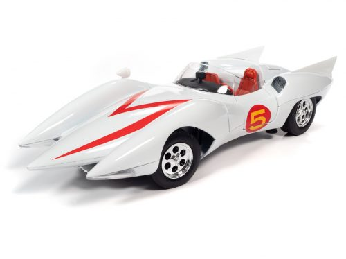 Auto World Speed Racer Mach 5 w/ Chim-Chim and Speed Racer Figures 1:18 Scale Diecast