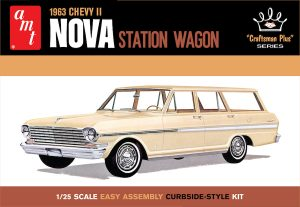 "AMT 1963 Chevy II Nova Station Wagon ""Craftsman Plus Series"" 1:25 Scale Model Kit"