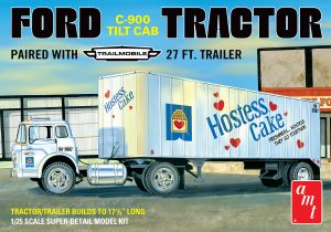 AMT Ford C600 Hostess Truck with Trailer 1:25 Scale Model Kit
