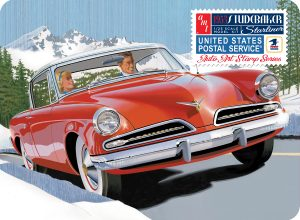AMT 1953 Studebaker Starliner - USPS with Collectible Tin 1:25 Scale Model Kit