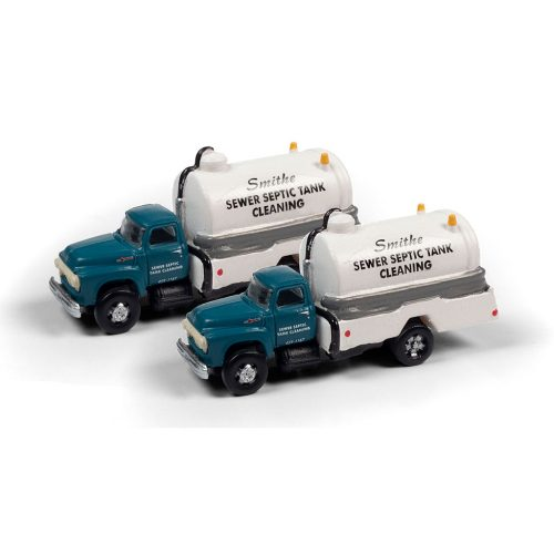 CLASSIC METAL WORKS 1954 FORD SEPTIC TANK TRUCK (SMITHE SEPTIC SERVICE) (2-PACK) 1:160 N SCALE