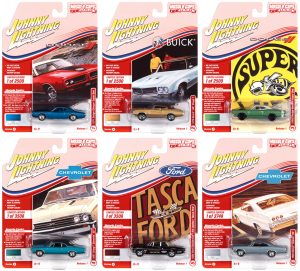 JOHNNY LIGHTNING MUSCLE CARS USA 2021 RELEASE 1 SET A - 1:64 DIECAST