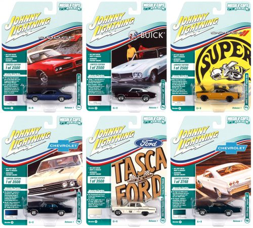 JOHNNY LIGHTNING MUSCLE CARS USA 2021 RELEASE 1 SET B - 1:64 DIECAST