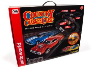 14' County Charger Chase Slot Race Set HO Scale