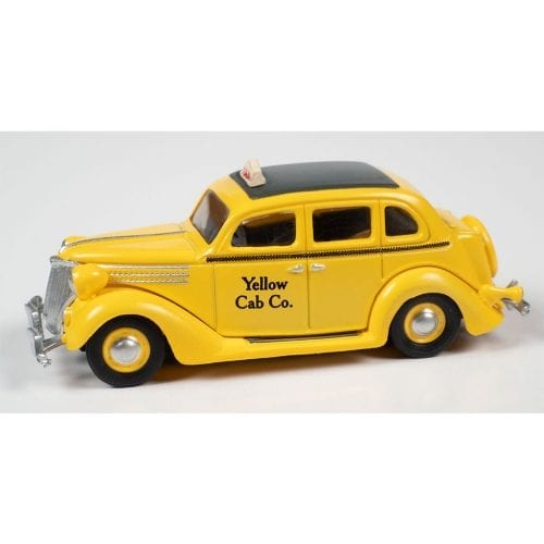 CLASSIC METAL WORKS 1936 FORD SEDAN TAXI (YELLOW) 1:87 HO SCALE