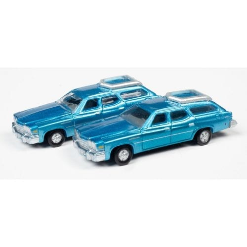 CLASSIC METAL WORKS 1976 BUICK ESTATE WAGON (POTOMAC BLUE POLY) (2-PACK) 1:160 N SCALE