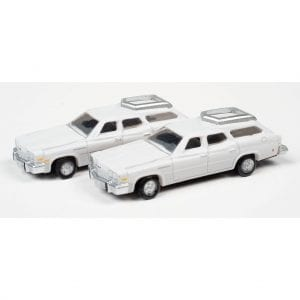 CLASSIC METAL WORKS 1976 BUICK ESTATE WAGON (LIBERTY WHITE) (2-PACK) 1:160 N SCALE