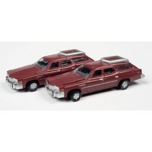 CLASSIC METAL WORKS 1976 BUICK ESTATE WAGON (INDEPENDENCE RED POLY) (2-PACK) 1:160 N SCALE