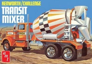 AMT KENWORTH /CHALLENGE TRANSIT CEMENT MIXER 1:25 SCALE MODEL KIT