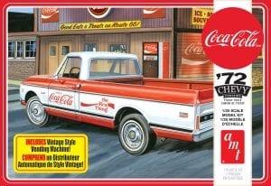 AMT 1972 CHEVY PICKUP W/VENDING MACHINE & CRATES (COCA-COLA) 1:25 SCALE MODEL KIT