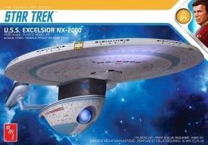 AMT STAR TREK U.S.S. EXCELSIOR 1:1000 SCALE MODEL KIT