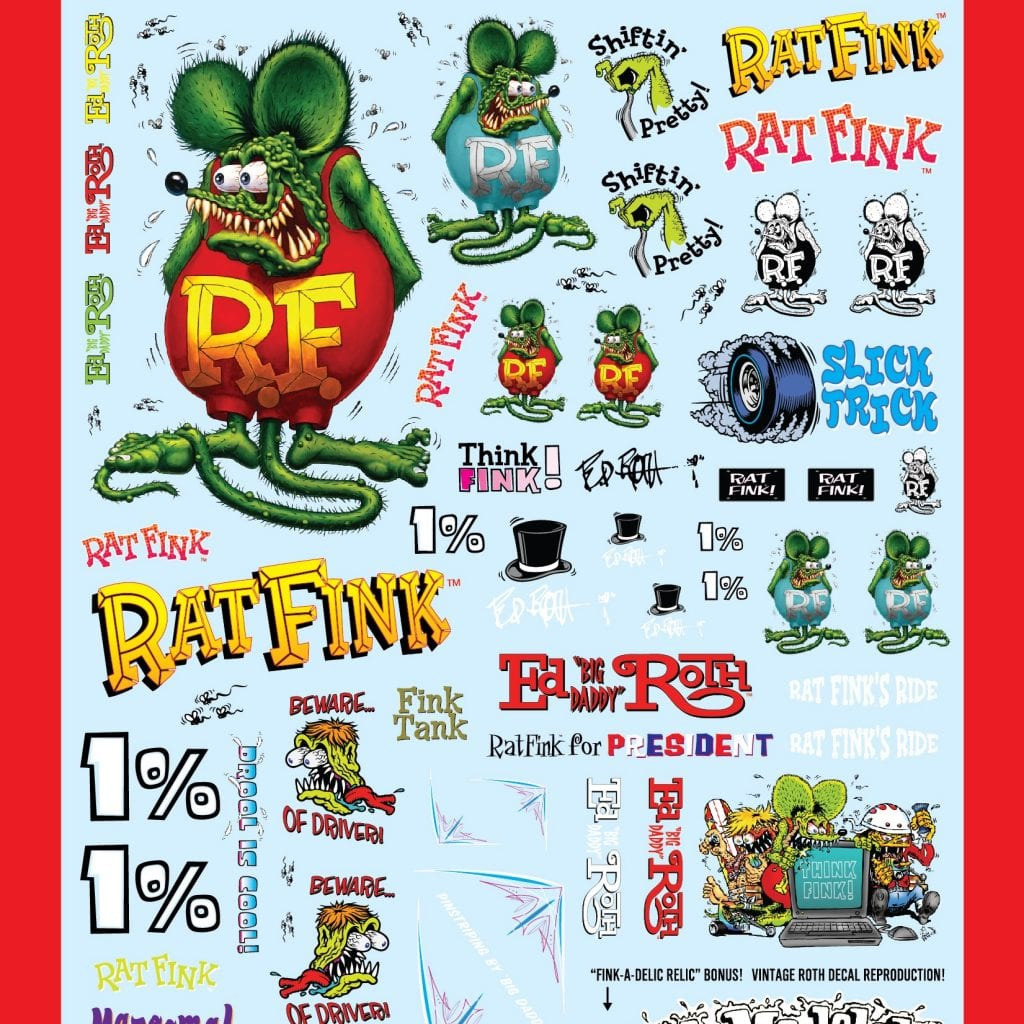 AMT RAT FINK DECAL PACK 1:25 SCALE