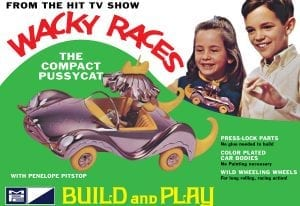 MPC WACKY RACES - COMPACT PUSSYCAT (SNAP) 1:32 SCALE MODEL KIT