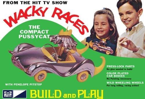 MPC WACKY RACES - COMPACT PUSSYCAT (SNAP) 1:32 SCALE MODEL KIT