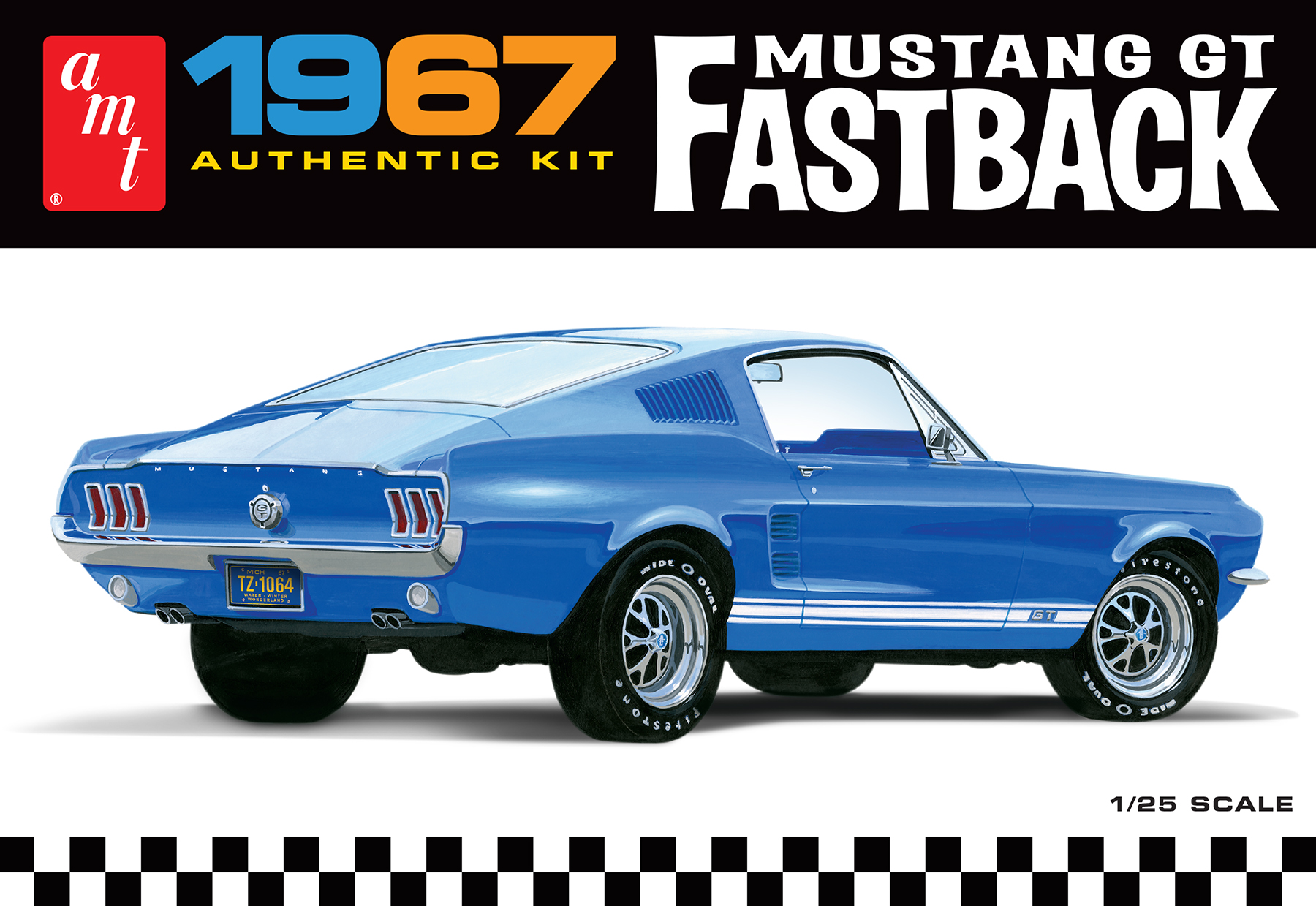 AMT 1967 FORD MUSTANG GT FASTBACK 1:25 SCALE MODEL KIT   Round2