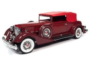 AUTO WORLD 1934 PACKARD V12 VICTORIA SOFT TOP 1:18 SCALE DIECAST