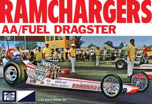 MPC RAMCHARGERS FRONT ENGINE DRAGSTER 1:25 SCALE MODEL KIT