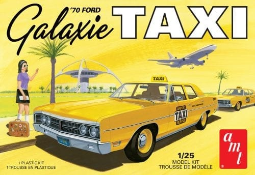 AMT 1970 FORD GALAXIE TAXI 1:25 SCALE MODEL KIT