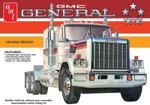 AMT 1976 GMC GENERAL SEMI TRACTOR 1:25 SCALE MODEL KIT
