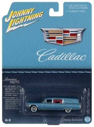 JOHNNY LIGHTNING 1966 CADILLAC HEARSE (BLUE) 1:64 SCALE DIECAST