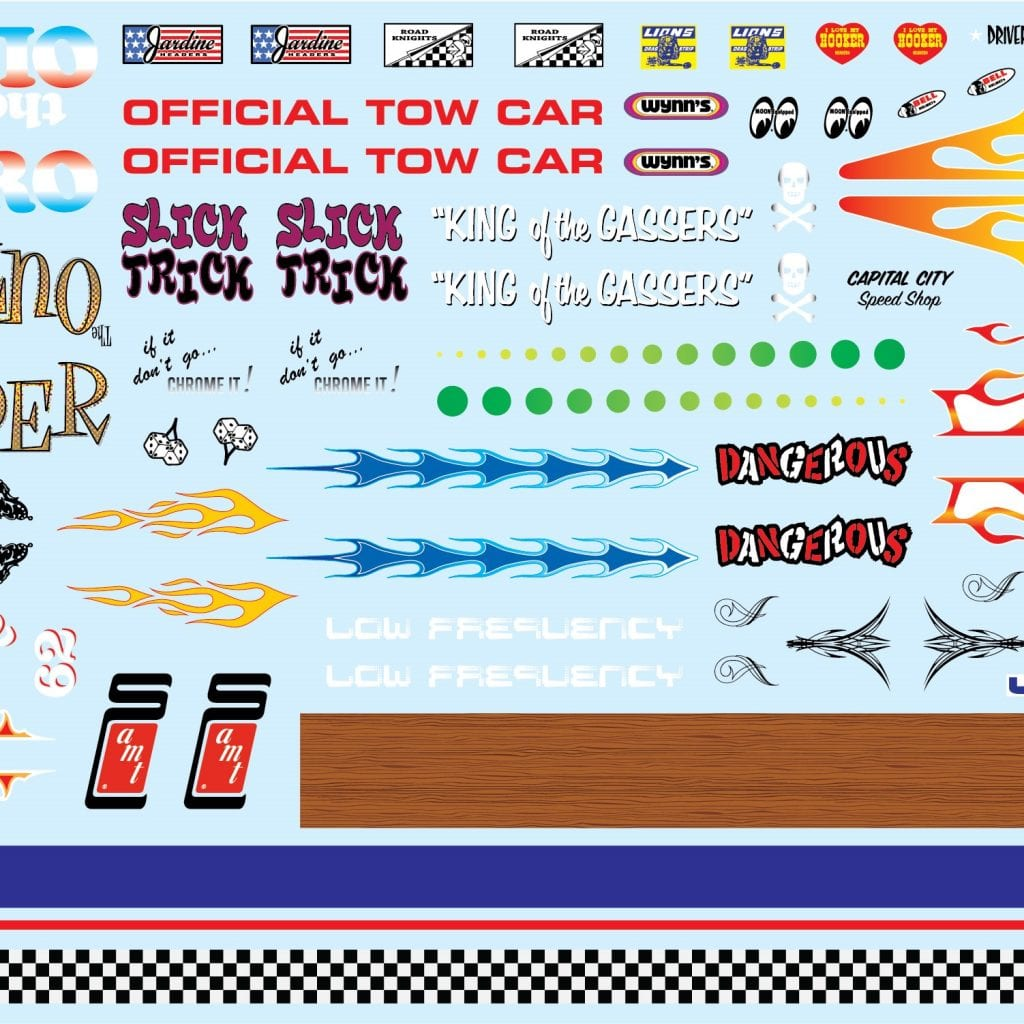 AMT BEST OF AMT CUSTOM GRAPHICS DECALS VOLUME 1 1:25 SCALE
