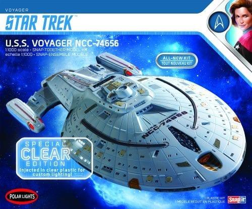 POLAR LIGHTS STAR TREK U.S.S. VOYAGER CLEAR EDITION (SNAP) 1:1000 SCALE MODEL KIT