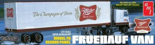 AMT FRUEHAUF 40' SEMI TRAILER (MILLER BEER) 1:25 SCALE MODEL KIT